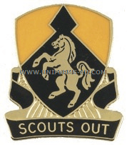 army 153 cavalry regiment unit crest