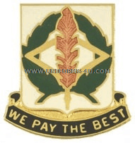 ARMY 153 FINANCE BATTALION UNIT CREST