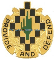 ARMY 158 SUPPORT BATTALION UNIT CREST