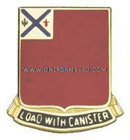 ARMY 172 FIELD ARTILLERY ARNG NEW HAMPSHIRE UNIT CREST