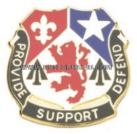 army 536 support battalion unit crest