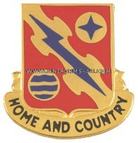 ARMY 265 AIR DEFENSE ARTILLERY REGIMENT UNIT CREST