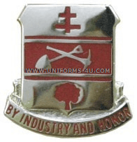 ARMY 317 ENGINEER BATTALION UNIT CREST