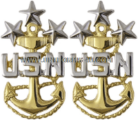 U.S. NAVY MASTER CPO OF THE NAVY COAT RANK DEVICE