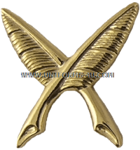 U.S. NAVY CWO SHIP'S CLERK (YN) COLLAR DEVICE