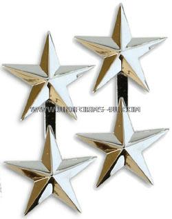 MAJOR GENERAL REAR ADMIRAL UPPER HALF 2 STAR SHOULDER RANK INSIGNIA