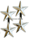 TWO STAR POINT TO CENTER NICKEL PLATED SHOULDER RANK