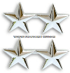 TWO STAR POINT TO POINT NICKEL PLATED SHOULDER RANK