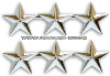 THREE STAR POINT TO POINT NICKEL PLATED SHOULDER RANK