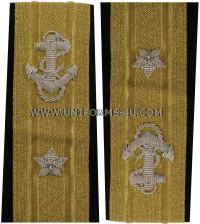 us navy soft shoulder board 1 star admiral - rear admiral lower half