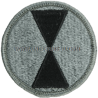 us army 7th infantry division Patch