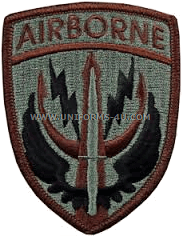 Us army special operations command patches
