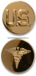 U.S. ARMY MEDICAL CORPS COLLAR DEVICES