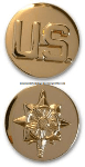 U.S. ARMY MILITARY INTELLIGENCE CORPS COLLAR DEVICES
