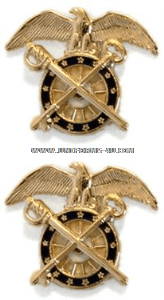 U.S. Army Quartermaster Corps Collar Devices