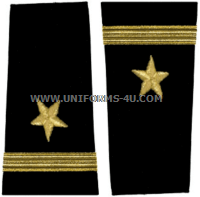 us navy soft shoulder board line ensign
