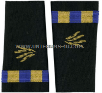 us navy soft shoulder board wo2  naval communications