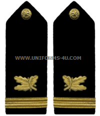 U.S. Navy Officer Supply Corps Hard Shoulder Boards