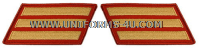 marine corps service stripes gold embroidered on red set of 3