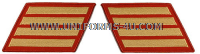marine corps service stripes gold embroidered on red set of 4