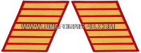 marine corps service stripes gold embroidered on red set of 7