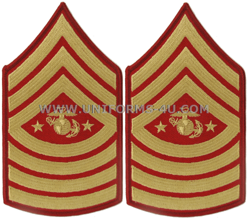 USMC SERGEANT MAJOR OF THE MARINE CORPS CHEVRONS