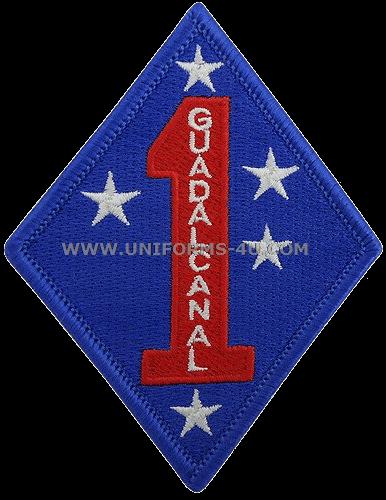 1st MarDiv Marine USMC 1st Marine Division ACU subdued Hook/&Loop PATCH for Army