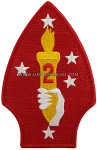marine corps shoulder patch 2nd division colour