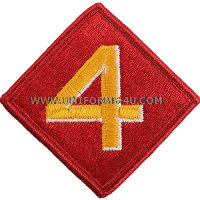 marine corps shoulder patch 4th division colour