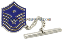 air force tie tack / clasp master sergeant with diamond