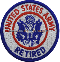 US Army United States Retired patch