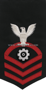 us navy e7 engineman (en) blue rating badge