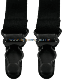 US Military Black Shirt Garters