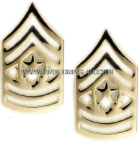 Army metal Chevrons Command Sergeant Major