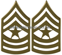 Army metal Chevrons Sergeant Major