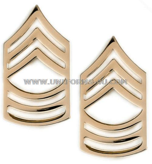 US ARMY CORPORAL RANK COLLAR BRASS PIN