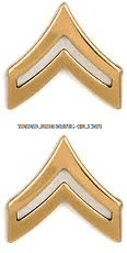 army metal chevrons corporal