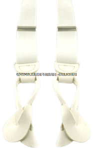 US Military white suspenders