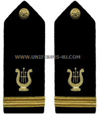 U.S. Navy Bandmaster Hard Shoulder Boards