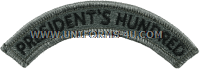 us army president's hundred tab patch
