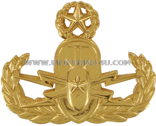 Navy Explosive Ordnance Disposal Breast Insignia. Officer 24K.