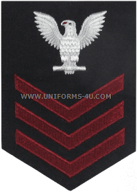 U.S. Navy Petty Officer First Class (E6) Rating Badge