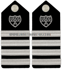 USCG Auxiliary hard shoulder boards DISTRICT CHIEF OF STAFF (DCOS)  & DISTRICT CAPTAIN (DCAPT)