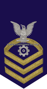 uscg e7 machinery technician (mk) blue rating badge