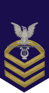 uscg e7 musician (mu) blue rating badge