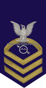 uscg e7 operations specialist (os) blue rating badge