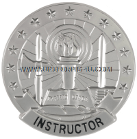 army basic instructor silver identification badge