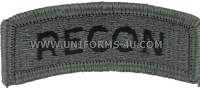 us army recon tab patch
