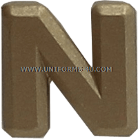 letter n attachment for ribbons and medals
