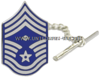 air force tie bar chief master sergeant with diamond